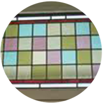 Coloured glass design